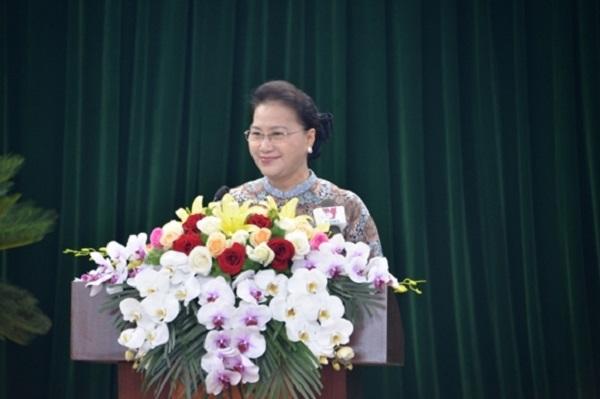Chủ tịch Quốc hội Nguyễn Thị Kim Ngân phát biểu tại kỳ họp thứ 13 HĐND tỉnh Hải Dương