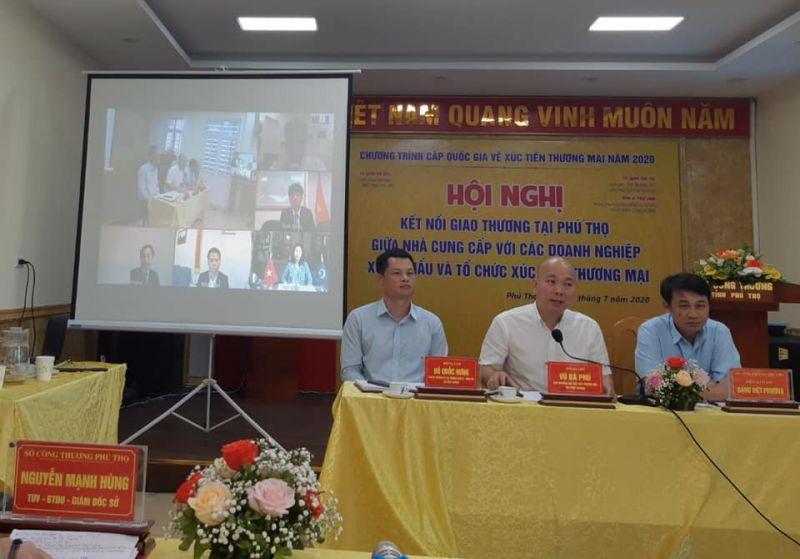 Hội nghị trực tuyến kết nối giao thương tại Phú Thọ giữa các nhà cung cấp với các doanh nghiệp xuất khẩu và tổ chức xúc tiến thương mại (XTTM) năm 2020