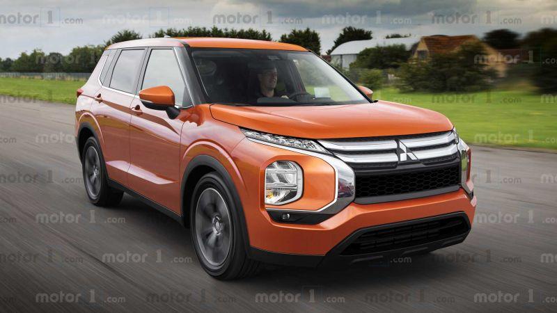 Ảnh phác họa thiết kế Mitsubishi Outlander thế hệ mới