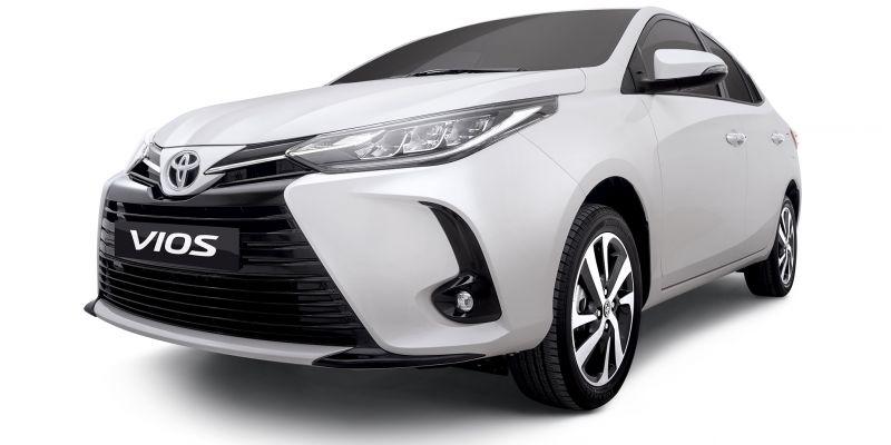 Toyota Vios 2021 đã được trang bị đèn pha LED hiện đại trên phiên bản cao cấp