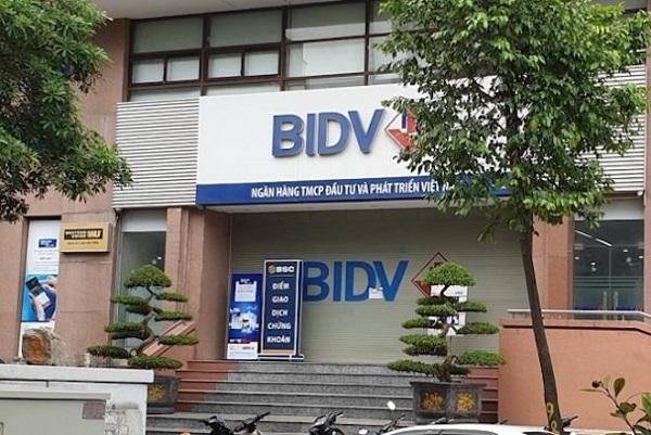 BIDV Chi nhánh Ngọc Khánh nơi xảy ra vụ cướp.