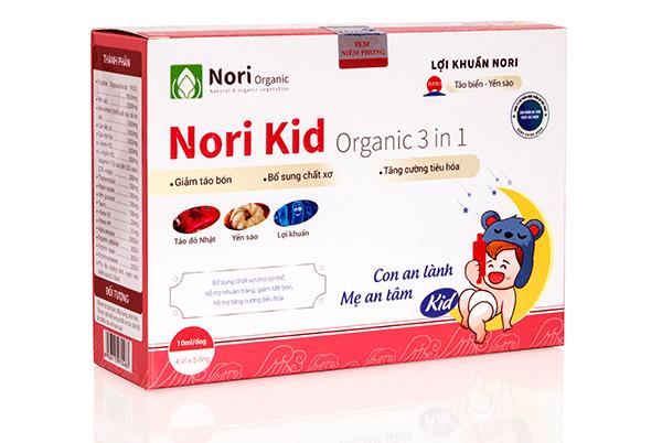 Thu hồi giấy Giấy tiếp nhận đăng ký bản công bố của sản phẩm Thực phẩm bảo vệ sức khỏe Nori Kid