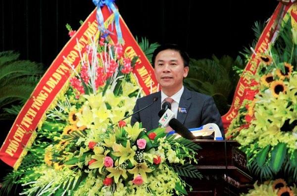 Phó Bí thư Thường trực Tỉnh ủy Đỗ Trọng Hưng phát biểu tại Đại hội