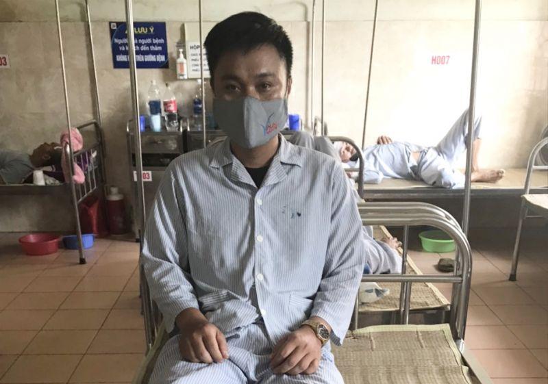 Anh T.V.B hiện đang phải nằm viện để điều trị