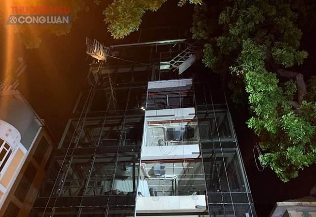 Công trình đang xây dựng tại số 16 Nguyễn Công Trứ, Hai Bà Trưng, Hà Nội