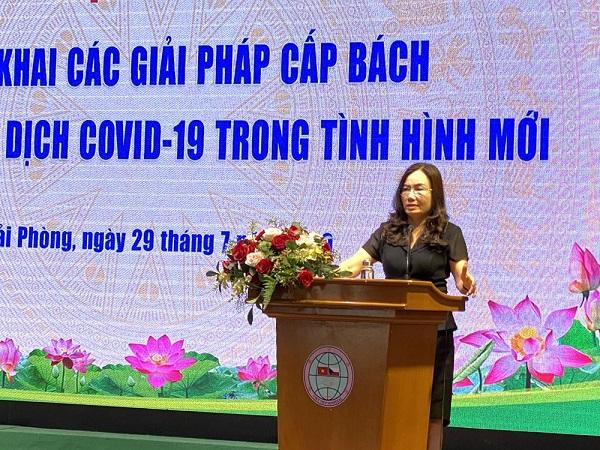 Giám đốc Sở Y tế Phạm Thu Xanh chủ trì Hội nghị