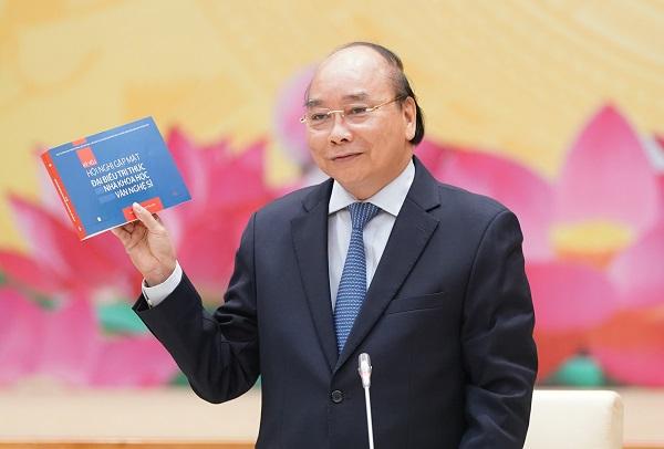 Thủ tướng Nguyễn Xuân Phúc phát biểu tại buổi gặp mặt (Ảnh: VGP/Quang Hiếu)