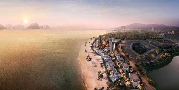 InterContinental Halong Bay Resort & Residences tọa lạc tại bán đảo trung tâm Halong Marina