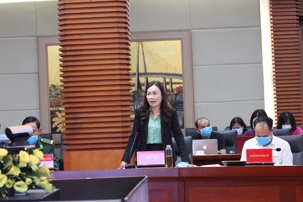 Bà Phạm Thu Xanh giám đốc Sở Y tế Hải Phòng