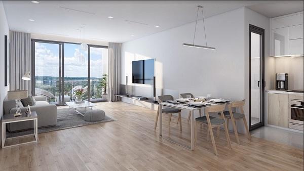 Thiết kế căn hộ The Zei theo ngôn ngữ phẳng, không dầm cột, tối ưu không gian sử dụng