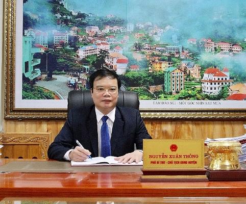 Đồng chí Nguyễn Xuân Thông - Phó Bí thư Huyện ủy, Chủ tịch UBND huyện Yên Lạc.