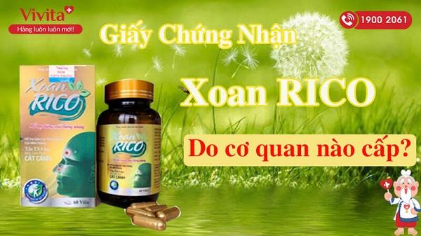 Cẩn trọng với thông tin quảng cáo thực phẩm Bảo vệ sức khỏe XOAN RICO