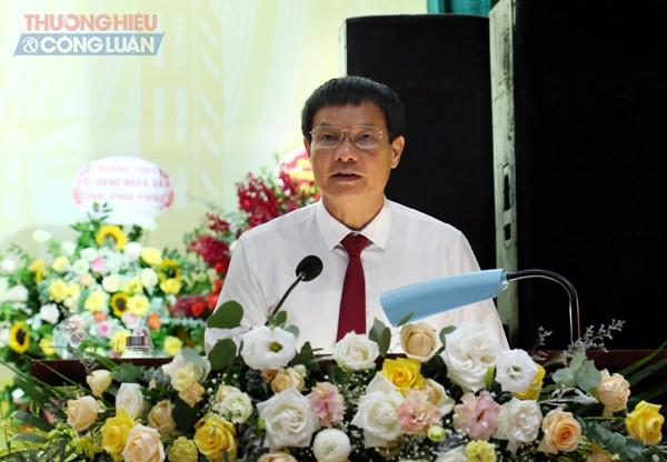 Phó Bí thư Thường trực Tỉnh ủy Vĩnh Phúc Trần Văn Vinh phát biểu chỉ đại Đại hội