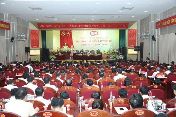 Quang cảnh tại Đại hội đại biểu Đảng bộ huyện Bình Xuyên, Vĩnh Phúc