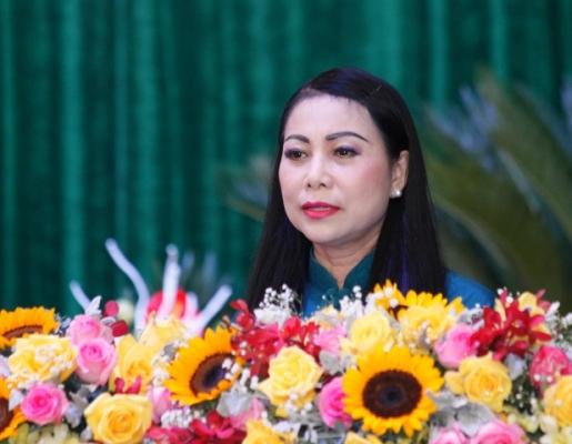 Bí thư Tỉnh ủy Vĩnh Phúc Hoàng Thị Thúy Lan phát biểu chỉ đạo tại đại hội