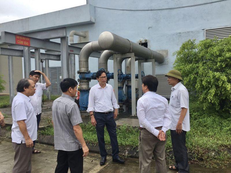 Phó Thủ tướng đi kiểm tra nhà máy nước thải Gia Sàng  T.P Thái Nguyên