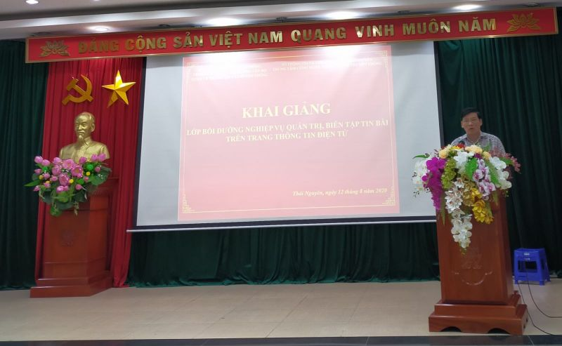 Ông Trần Trọng Chung, Phó Giám đốc Sở Thông tin và Truyền thông phát biểu