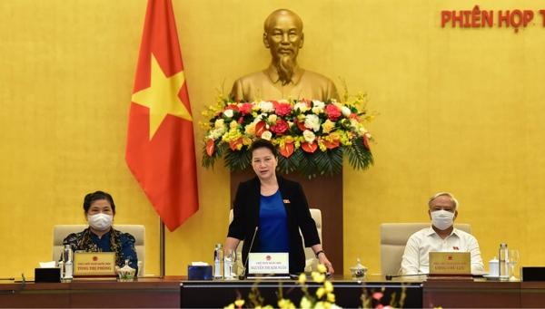 Chủ tịch Quốc hội Nguyễn Thị Kim Ngân phát biểu bế mạc Phiên họp thứ 47 của Ủy ban Thường vụ Quốc hội