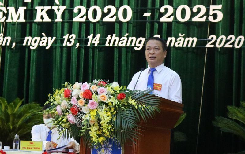 GS.TS Phạm Hồng Quang, Bí thư Đảng ủy, Giám đốc ĐH Thái Nguyên phát biểu khai mạc Đại hội