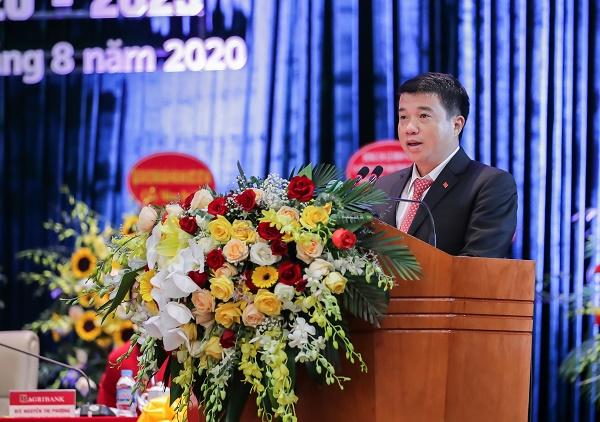 Ông Y Thanh Hà Nie Kđăm - Ủy viên dự khuyết Trung ương Đảng, Bí thư Đảng ủy Khối Doanh nghiệp Trung ương phát biểu chỉ đạo Đại hội