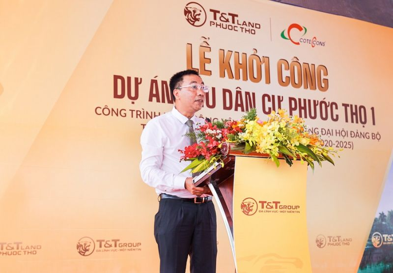 Ông Nguyễn Anh Tuấn, Phó Tổng Giám đốc Tập đoàn T&T Group phát biểu tại Lễ khởi công dự án