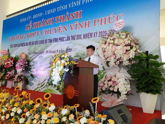 Về phía chủ đầu tư dự án ông Đào Văn Tiến, Giám đốc Ban Quản lý dự án Dân dụng, Công nghiệp tỉnh phát biểu tại buổi lễ