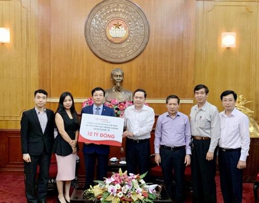 Công ty ô tô Toyota Việt Nam ủng hộ 11,1 tỷ đồng cho tỉnh Vĩnh Phúc và Ủy ban Mặt trận tổ quốc Việt Nam phòng chống dịch Covid-19