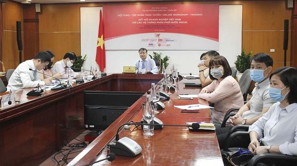 Hội thảo tập huấn trực tuyến - kết nối Doanh nghiệp Việt Nam với các Hệ thống Phân phối nước ngoài