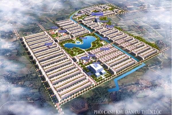 Phối cảnh dự án Khu dân cư Thiên Lộc – TP. Sông Công