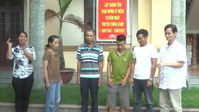 Một số đối tượng bị bắt giữ trong vụ án