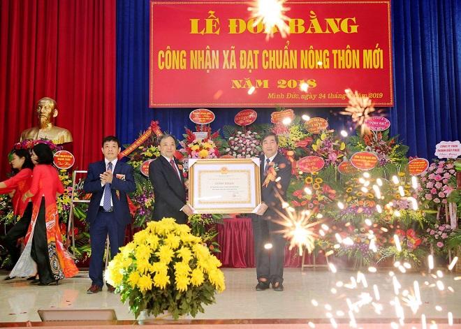 Lễ đón nhận Bằng công nhận xã đạt chuẩn nông thôn mới xã Minh Đức (Tứ Kỳ)