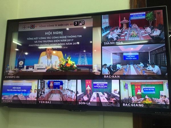 Những Hội nghị truyền hình trực tuyến được EVNNPC triển khai từ nhiều năm nay
