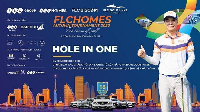 Golfer Nguyễn Thanh Anh – chủ nhân giải thưởng HIO 10 tỷ đồng của FLCHomes Autumn Tournament 2020.