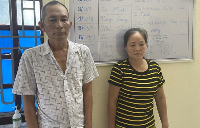 Đỗ Thanh Sơn và Nguyễn Thị Hân (Ảnh: Công an Thanh Hóa)
