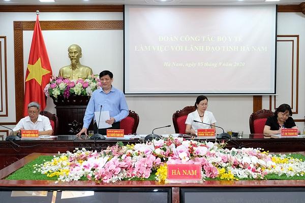 GS.TS Nguyễn Thanh Long phát biểu tại buổi làm việc.