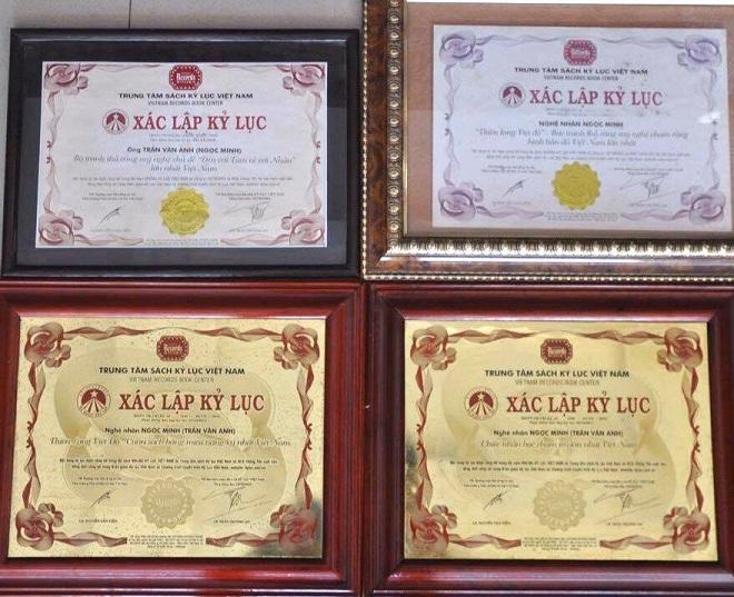 Trung tâm Sách kỷ lục Việt Nam xác nhận 4 kỷ lục cho nghệ nhân xứ Quảng