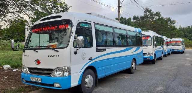 Ngày 7.9 Xe khách tuyến Huế- Đà Nẵng vẫn nằm bến