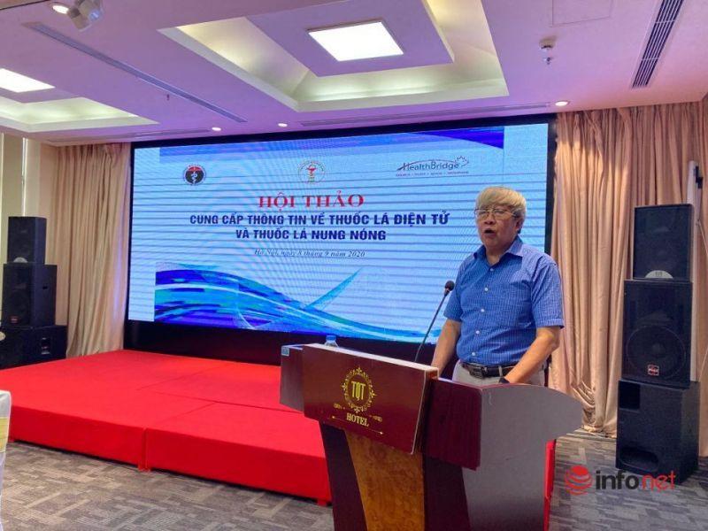 PGS. TS Lê Gia Vinh, Phó Chủ tịch Tổng hội Y học Việt Nam phát biểu khai mạc tại hội thảo (Ảnh Vietnamnet)