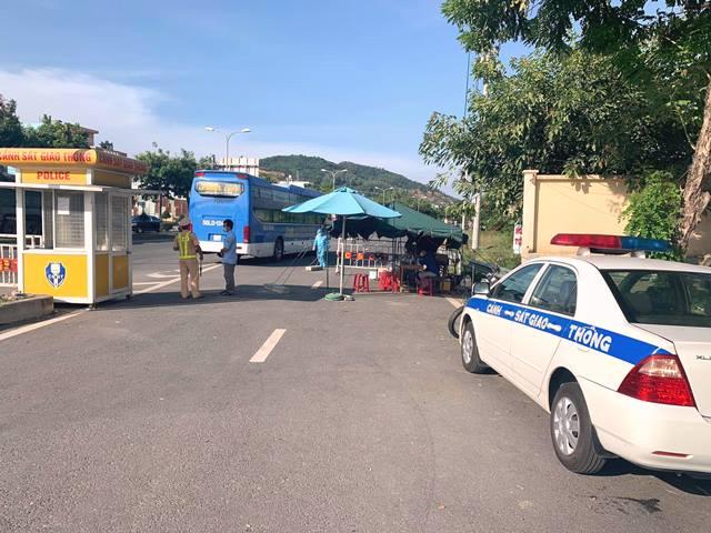 Chốt chặn tại khu vực Hòa Nhơn, H. Hòa Vang, TP. Đà Nẵng