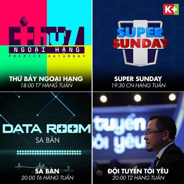 Người hâm mộ Việt Nam sẽ tiếp tục được thưởng thức các chương trình đồng hành cùng Ngoại hạng Anh trên các kênh K+ nhưng hấp dẫn và thú vị hơn