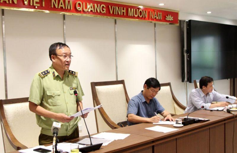 Phó Cục trưởng Cục Quản lý thị trường Hà Nội Nguyễn Minh Hùng thông tin