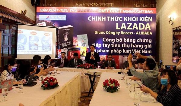 Nhà sách Trí Việt - First News chính thức khởi kiện sàn thương mại điện tử Lazada do có hành vi tiếp tay cho sách giả