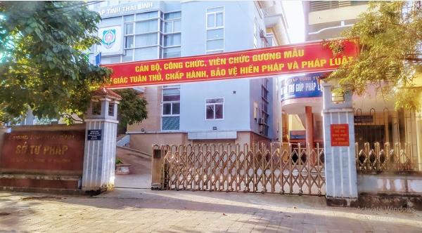 Sở Tư pháp Thái Bình, nơi đã có 4 cán bộ bị bắt giam và khởi tố do liên quan đến lĩnh vực Đấu giá đất và Đánh bạc