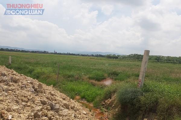 Từ một khu vực đất đai bạc màu, sản xuất nông nghiệp kém hiệu quả (ảnh), chủ đầu tư đã mạnh dạn chi hơn 50 tỷ đồng để xây dựng ao hồ theo tiêu chuẩn sản xuất nông nghiệp công nghệ cao