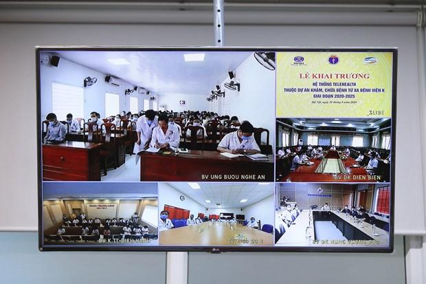 Các bệnh viện triển khai Đề án khám chữa bệnh từ xa. (Ảnh: PV/Vietnam+)