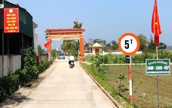 Một góc khuc dân cư nông nông thôn kiểu  mẫu ở Nghệ An