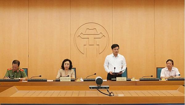Phó chủ tịch UBND TP. Hà Nội, Ngô Văn Quý phát biểu tại hội nghị
