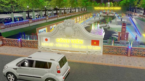 Ảnh mô phỏng  công viên Lịch sử-Văn hoá-Tâm linh Tô Lịch