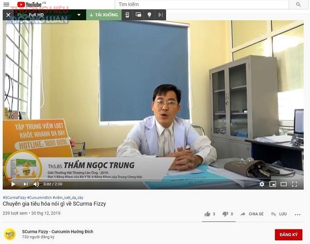 Chia sẻ về sản phẩm từ Ths. BS Thẩm Ngọc Trung