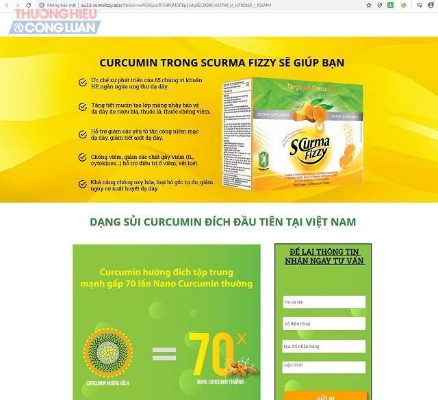 Thông tin quảng cáo về sản phẩm trên website